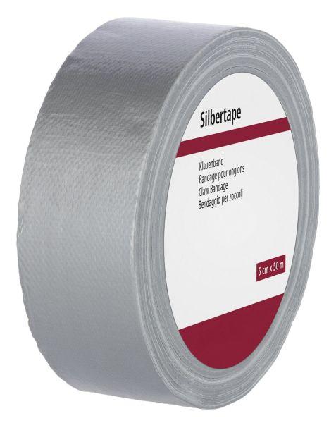 Silbertape Klauenverband 50m, silbernes Klauenband zum Bandagieren, für Schutzverbände