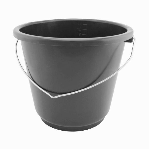 GEWA Eimer 12 Liter, bruchsicherer und formstabiler Futtereimer, für Stall und Haushalt