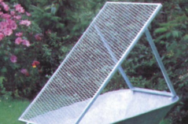 hadra® Schubkarrensieb 100x60cm, verzinkt, Durchwurfgitter für Schubkarren