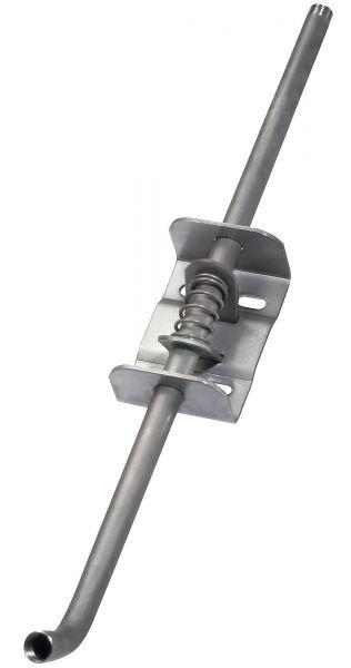 Monoflo® Höhenverstellung NIRO/STAHL, 62cm, 1/2 Zoll, 30° Grad, Höhenversteller für Tränkenippel