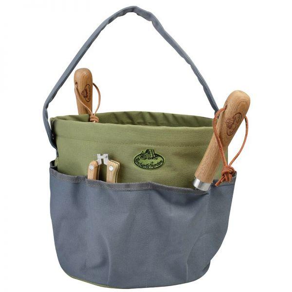 Esschert Design Gartengeräte-Tasche GT89, GRAU, Gartentasche für Gartengeräte