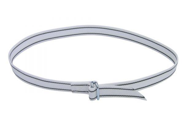 Halsmarkierungsband 120cm, weiß, mit Ringverschluss, Nummern-Halsband für Rinder und Kühe