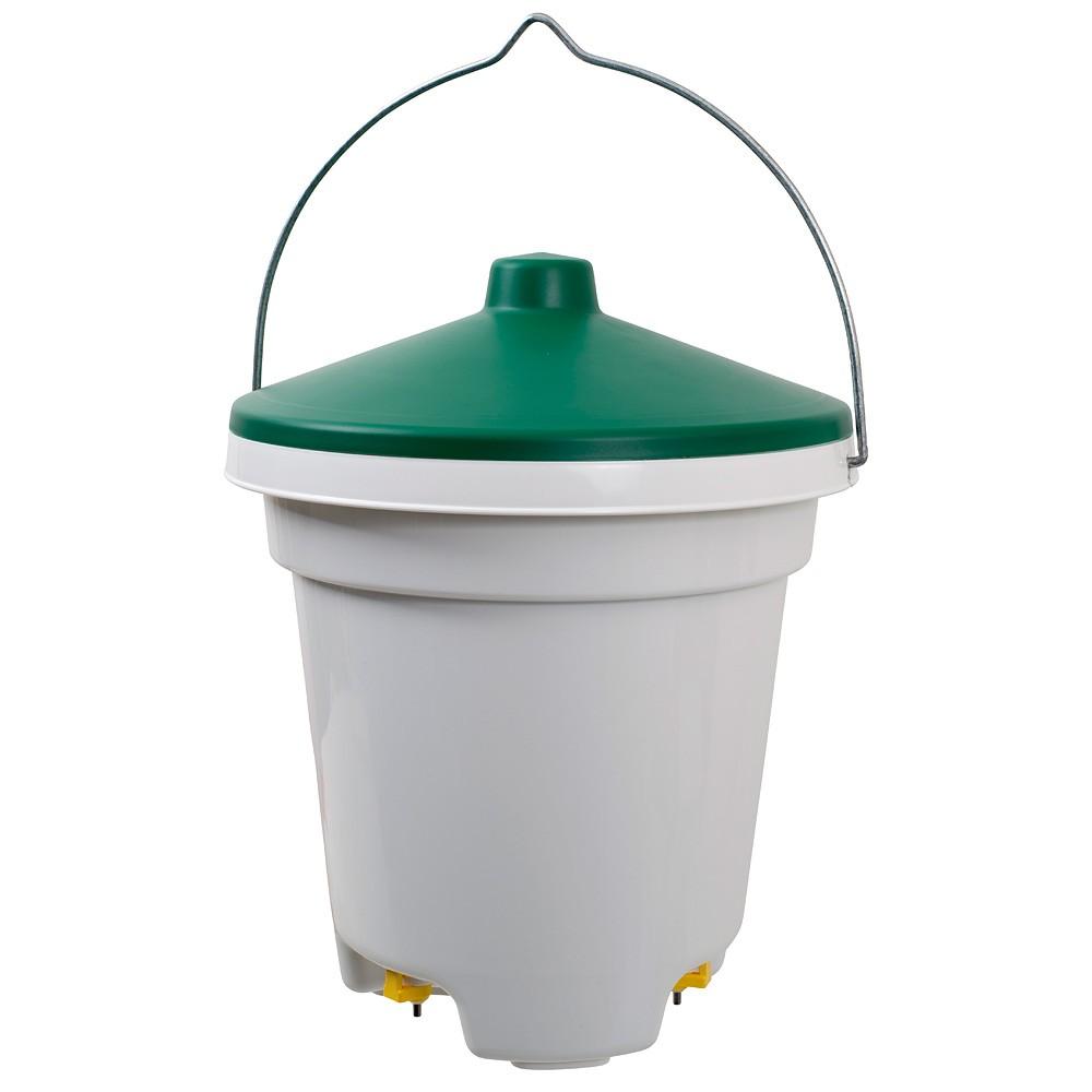 Geflügeltränke 12 Liter mit Tränkenippeln, Geflügel-Tränkeeimer ...